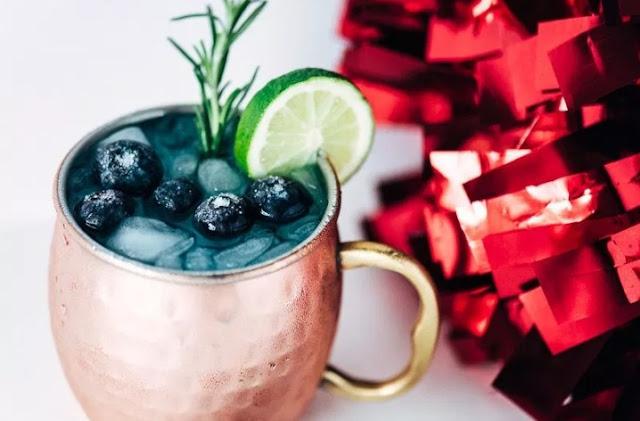 Blue Mule Cocktail #drinks #cocktails