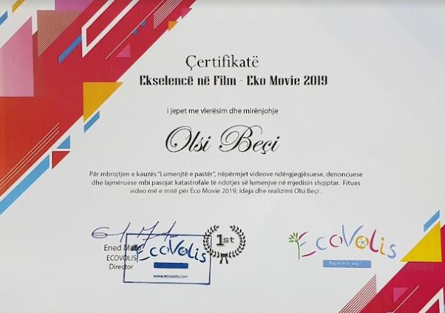 Olsi Beçi nderohet me çmimin Ekselencë në Film për kontributin në kinema
