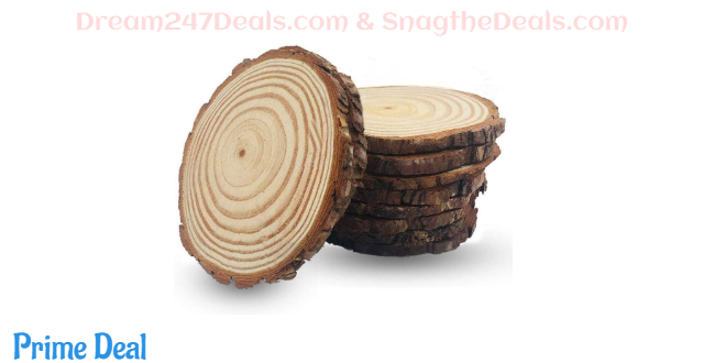 40%OFF Unfinished Natural Wood Slices 4-4.7 inch 10 Pieces Wood Circles