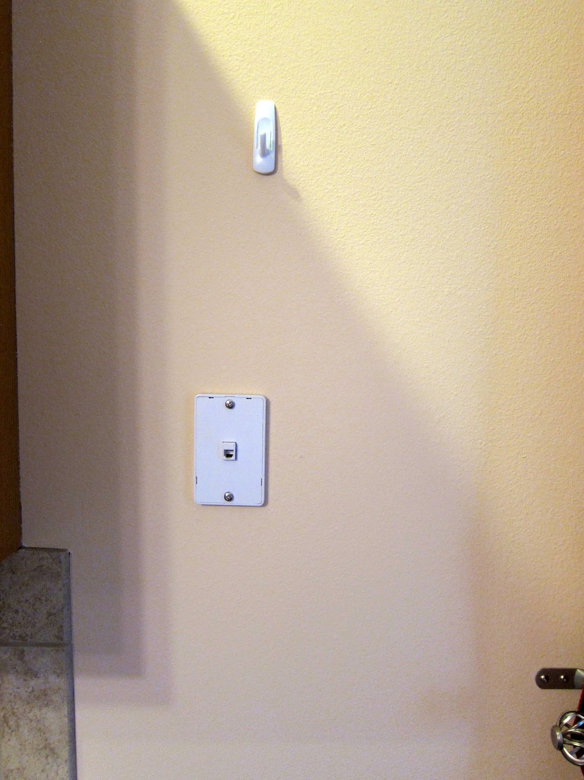 see the ugly phone jack terrible place for it don t you think it s in the middle of the wall i bought a canvas picture thingy at tj maxx i love you  [ 1199 x 1600 Pixel ]