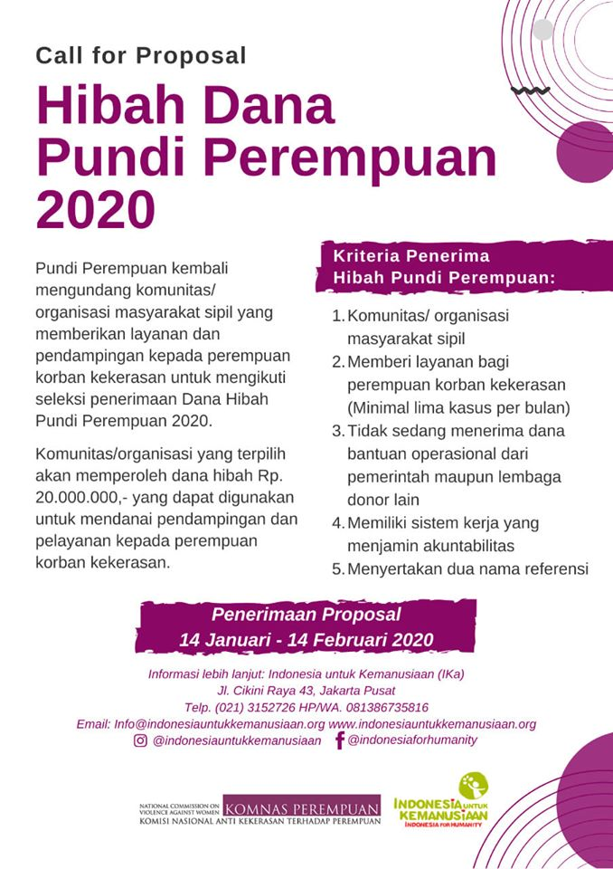 Call for Proposal Pundi Perempuan