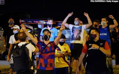 جماهير برشلونة و ميسي 2020