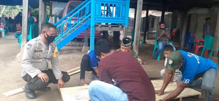 Sambangi Warga Binaan Bhabinkamtibmas Lagaruda Sampaikan Pesan Kamttibmas