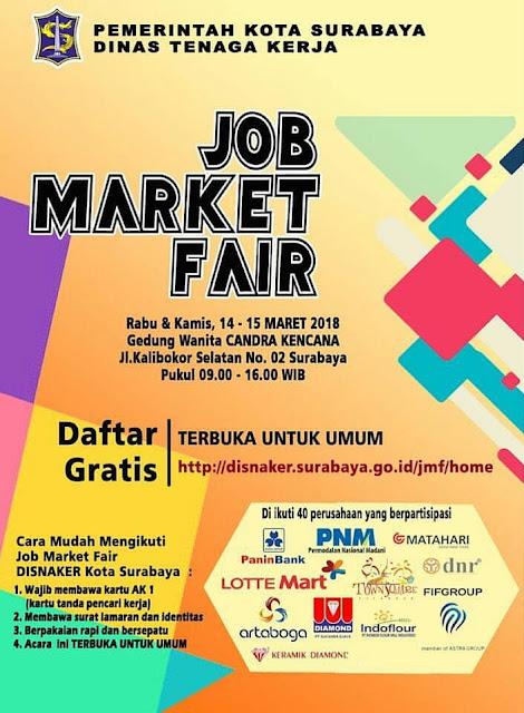 Job Market Fair Disnaker Kota Surabaya Gedung Wanita Candra Kencana – Maret 2018
