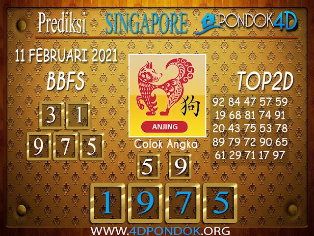 Prediksi Togel SINGAPORE PONDOK4D 11 FEBRUARI 2021