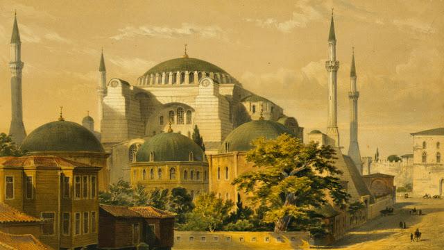 gambar lukisan masjid