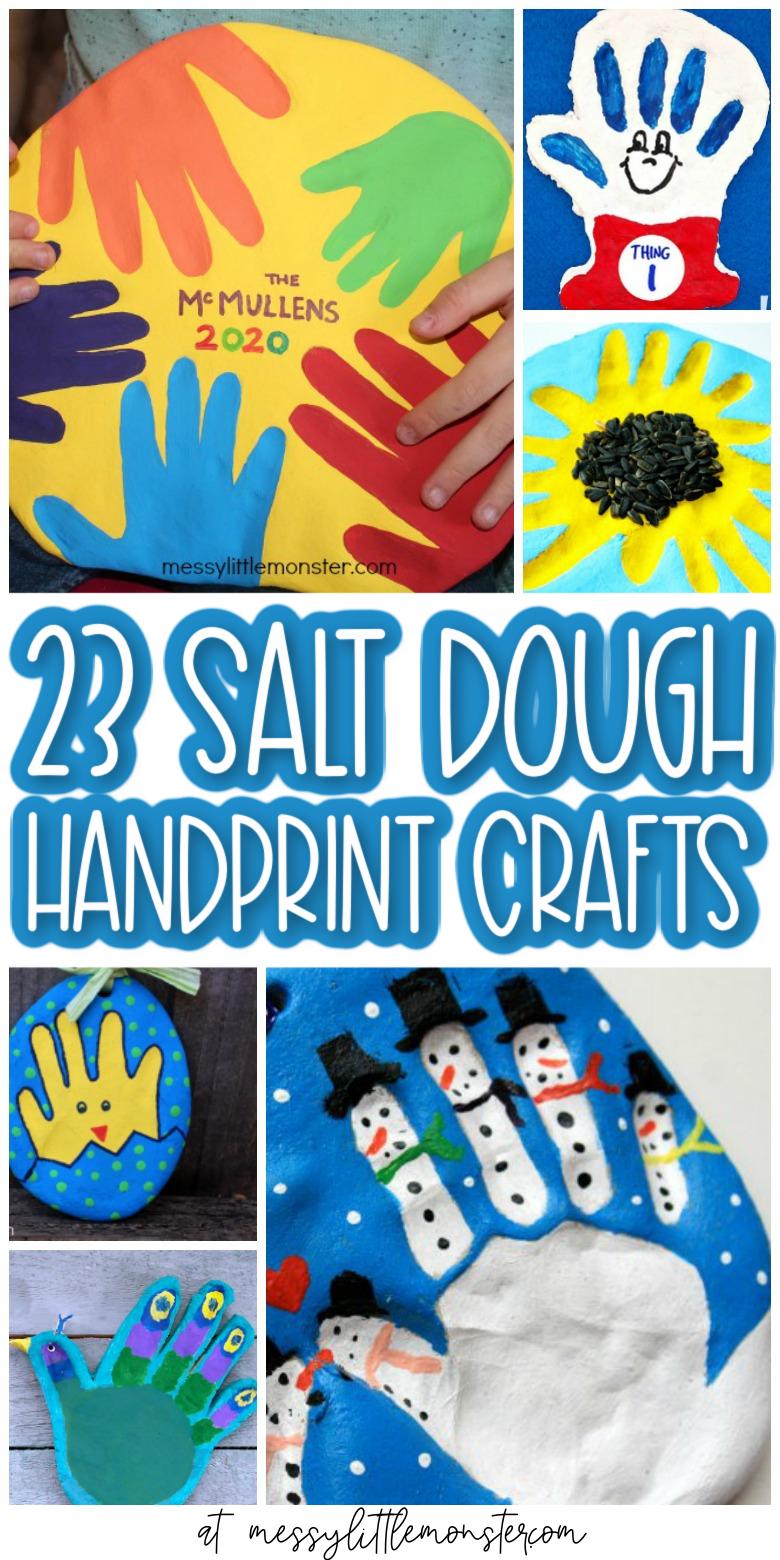 Salt dough handprints. Salt dough handprint ornaments. Salt dough crafts. Salt dough recipe.