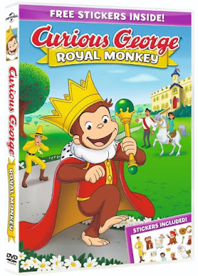 Curious George Royal Monkey 2019 DVD R1 NTSC Latino