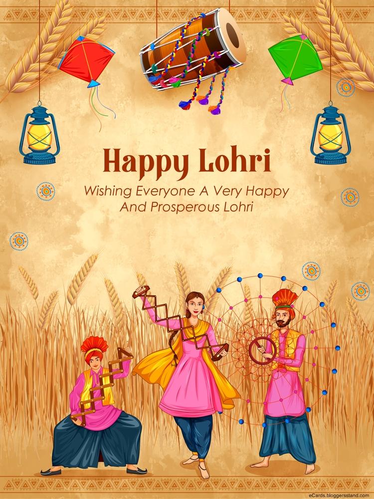 Happy lohri 2021 SMS text pics