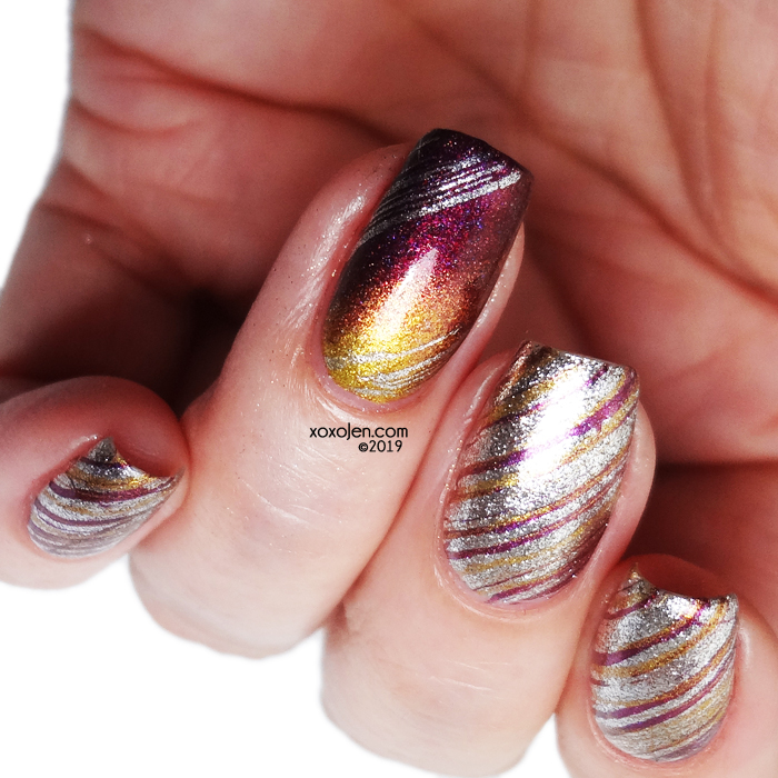 xoxoJen's swatch of Tonic Nail art!