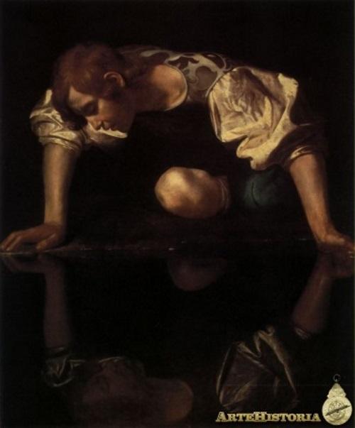 Narciso, pintura de Caravaggio.