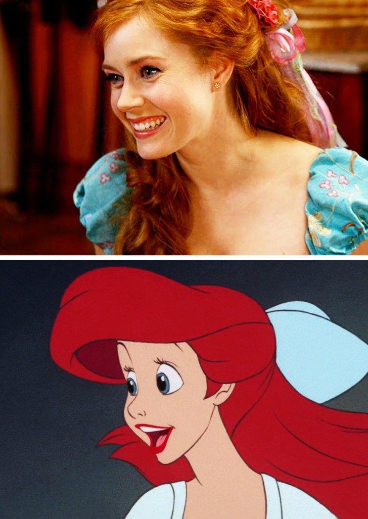 Amy Adams como Ariel, de A Pequena Sereia