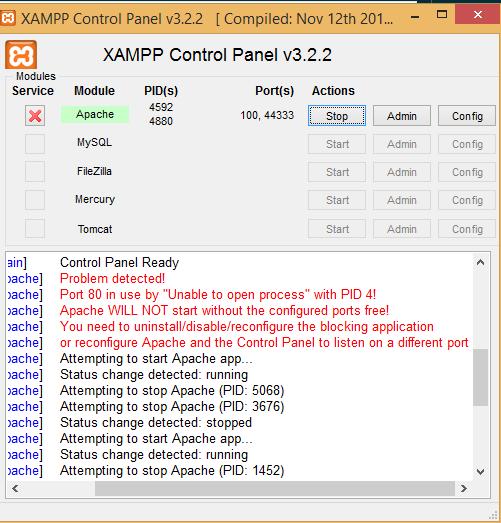How to Fix Error Apache Shutdown unexpectedly in XAMPP (2019)
