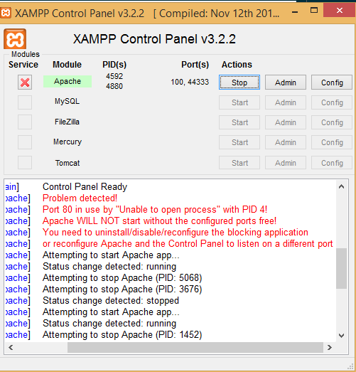 How to Fix Error Apache Shutdown unexpectedly in XAMPP (2019)