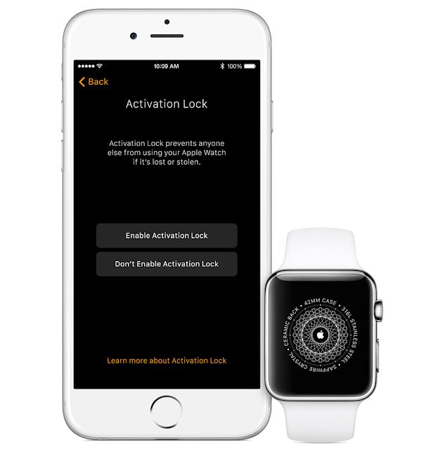 Mở khoá iCloud Apple Watch