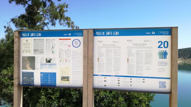 Painel Informação Praia de Santa Clara