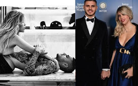 """PSG striker, Mauro Icardi jokingly calls his wife his """"female dog"""" on IG amid claims he sleeps with her 12 times a day and she replies"""