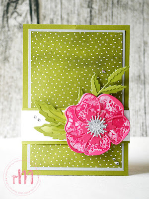 Stampin' Up! rosa Mädchen Kulmbach: Stamp Impressions Blog Hop: Color Combo - Pop up panel card mit Painted Poppies, Geburtstagsmix, Mohnblüten und Leinenstrucktur