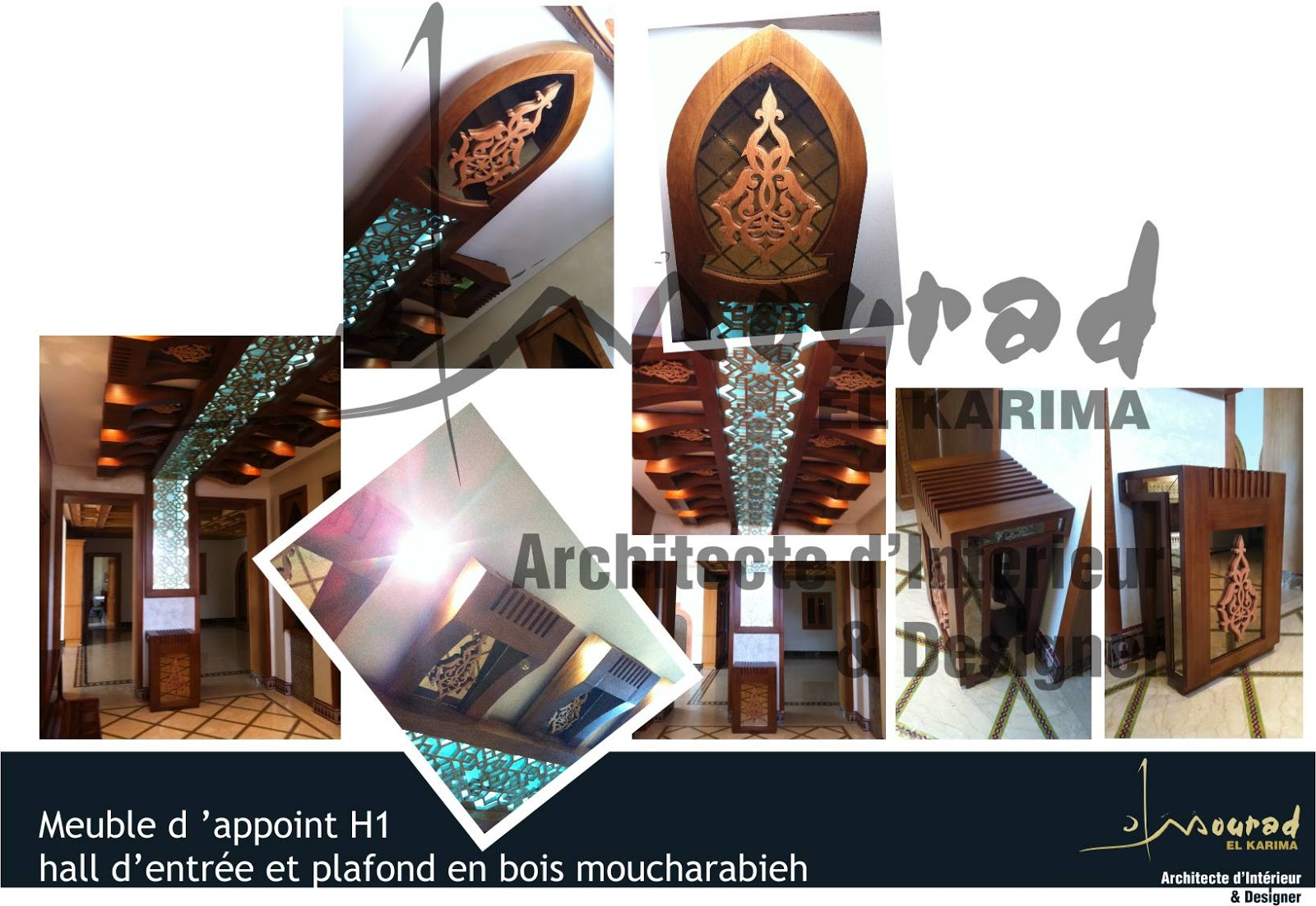 meuble h1 hall d entr e faux plafond rabat mourad el karima architecte d 39 interieur designer. Black Bedroom Furniture Sets. Home Design Ideas
