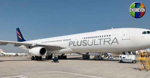 España suspendió el rescate financiero a la fraudulenta aerolínea venezolana Plus Ultra