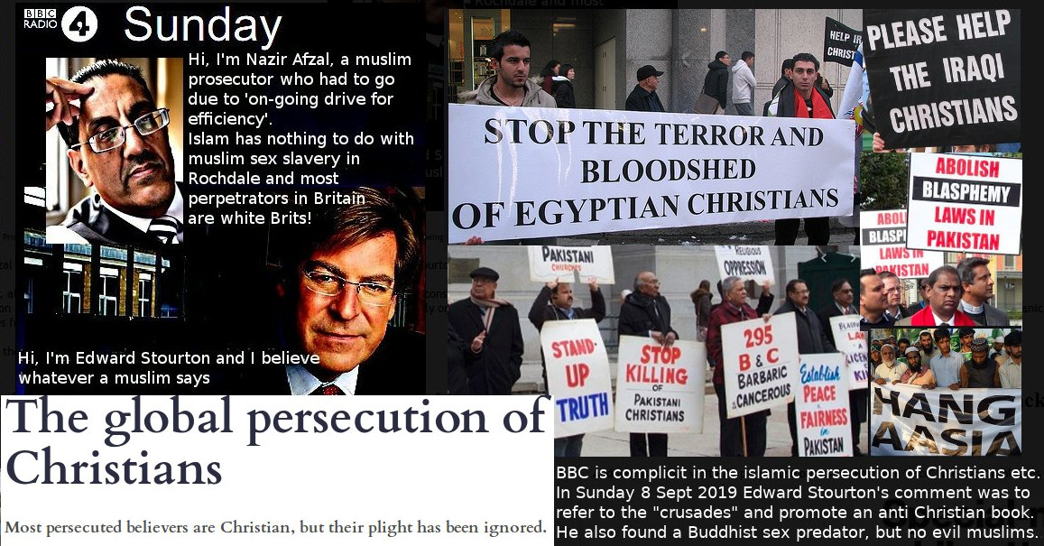 BBC isupports muslim persecution of Christians etc.