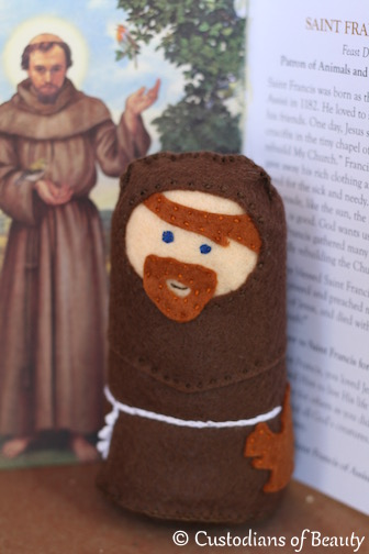Saint Felties | DIY Felted Saint Dolls| by CustodiansofBeauty.blogspot.com