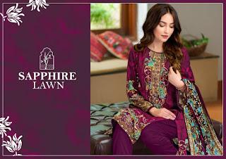 Sapphire Lawn Pakistani Dress Wholesale Price