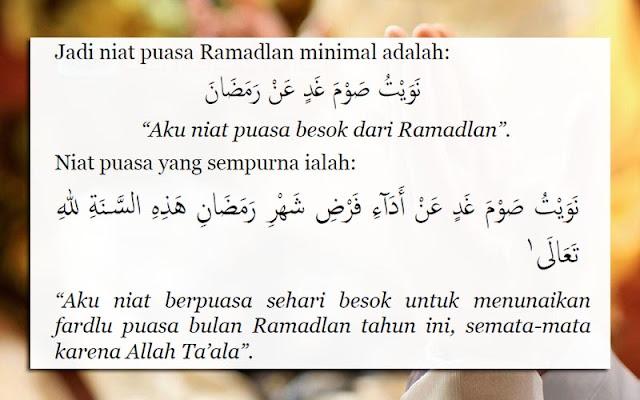 Niat Puasa Ramadhan Dan Artinya Lengkap