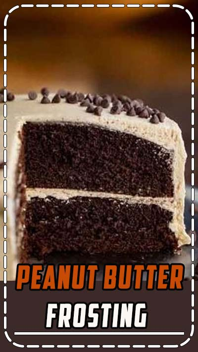 Peanut Butter Frosting is rich and creamy, made with ONLY 4 pantry ingredients and ready in under 10 minutes! #frosting #peanutbutter #dessert #cake #buttercream #recipe #dinnerthendessert