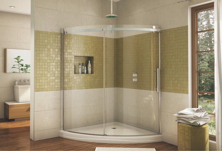Radial Sliding Shower Doors