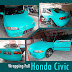 Wrapping Honda Civic hijau tosca