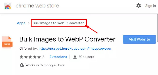 Bulk images to WebP Converter