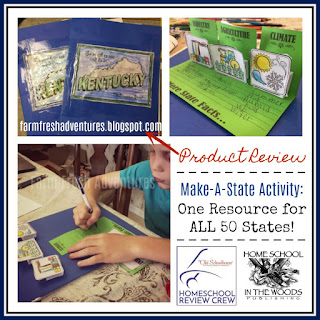 Make-A-State Activity from Home School in the Woods {Product Review}