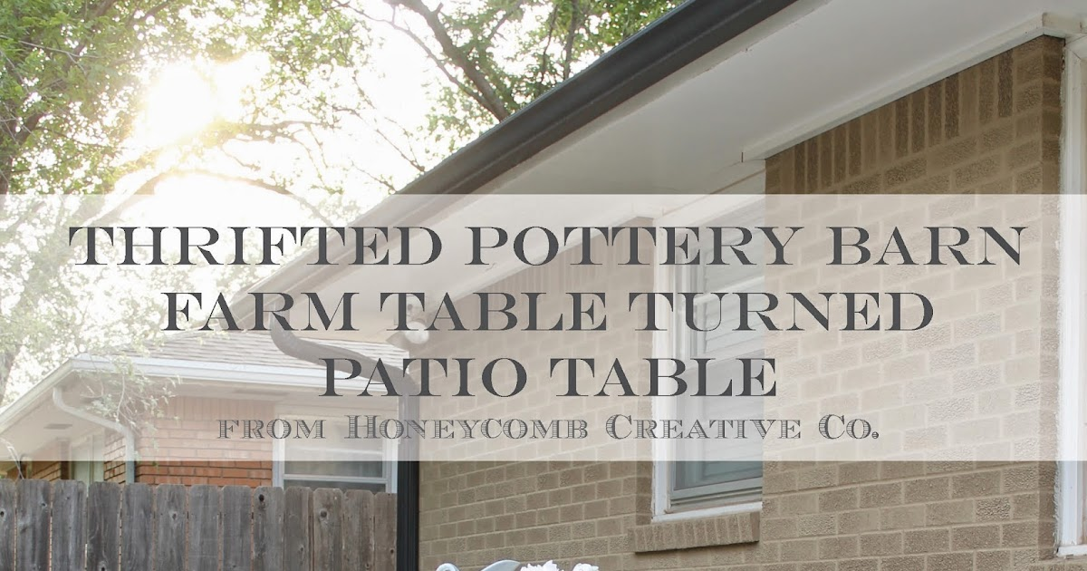 12th And White Thrifted Pottery Barn Table How To Turn