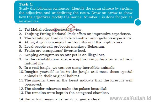 Kunci Jawaban Soal Bahasa Inggris Chapter 4 Task 1 Halaman 62 Kelas 10 Saifullah Id