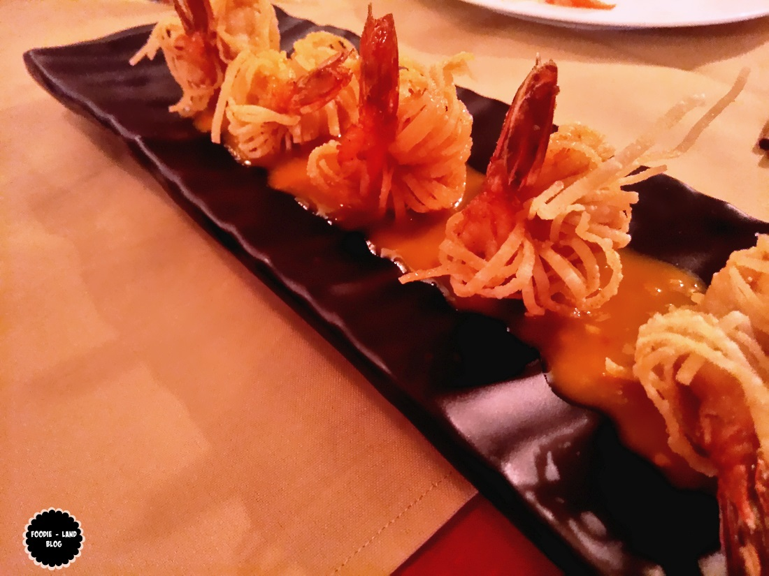 Crunchy wonton ribbon prawns @ Hunan | Koramangala | Bangalore