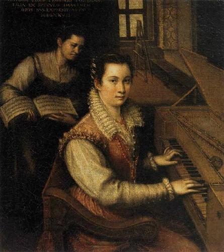 Lavinia Fontana (1552 — 1614) - Автопортрет у клавесина