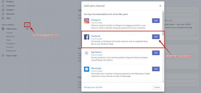 كيفية ربط متجر شوبيفاي بالفيسبوك