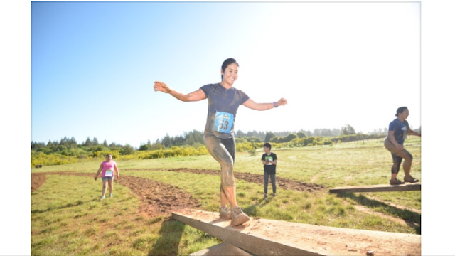 Russian River Mud Run Balance beam Obstacle