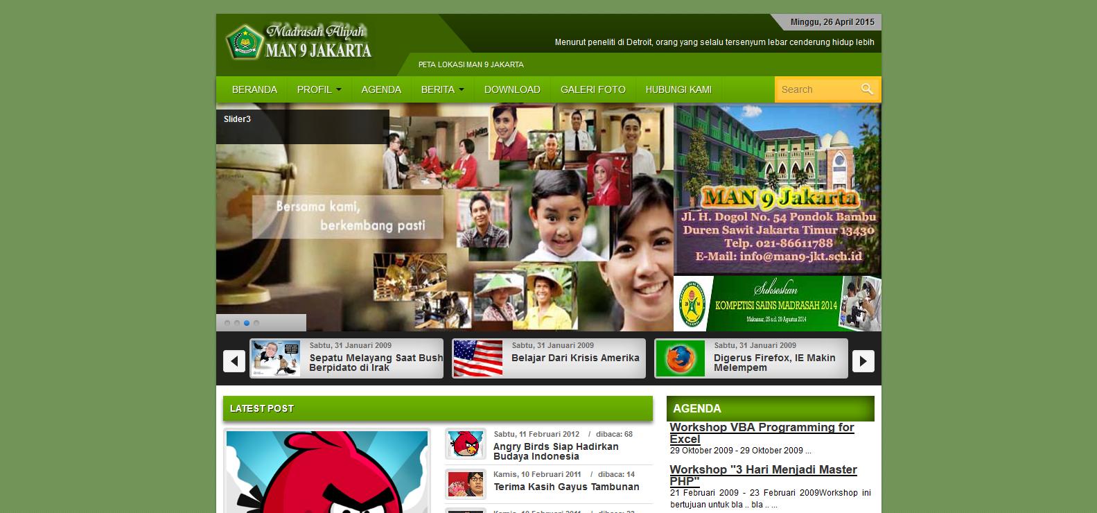 Template CMS Lokomedia MAN Jakarta