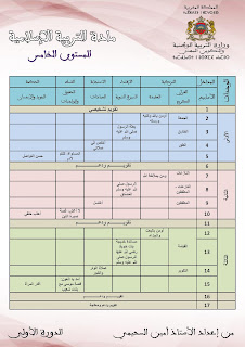 التوزيع السنوي لمادة التربية الإسلامية للمستوى الخامس وفق المنهاج المراجع