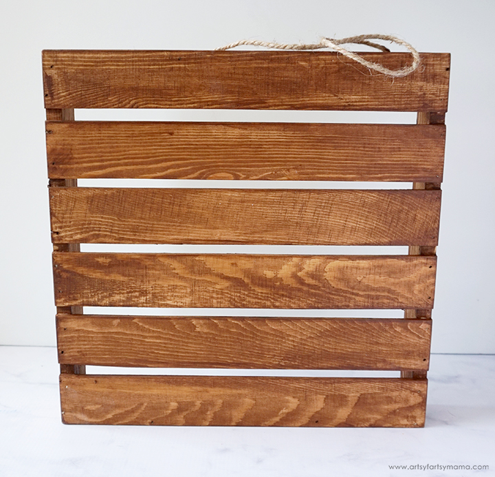 Stained Slatted Wood Sign