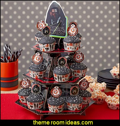 Star Wars Cupcake Tower  Star Wars party decorations  - Star Wars party decor - star wars party decorating - Star Wars party supplies -  Star Wars party props - star wars life size standees - star wars costumes - outer space party decorations - star wars props - galaxy table decorating props