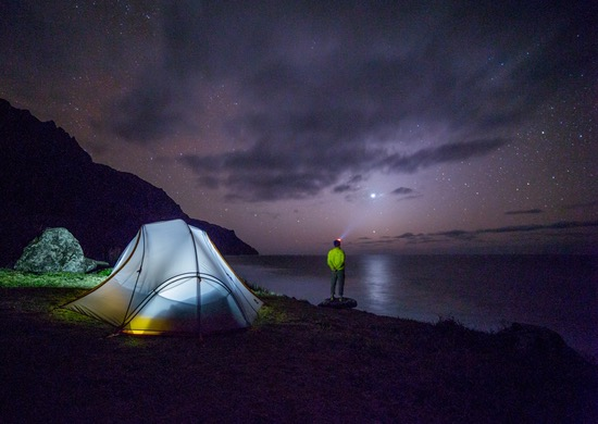 night camping, night campting at the beach
