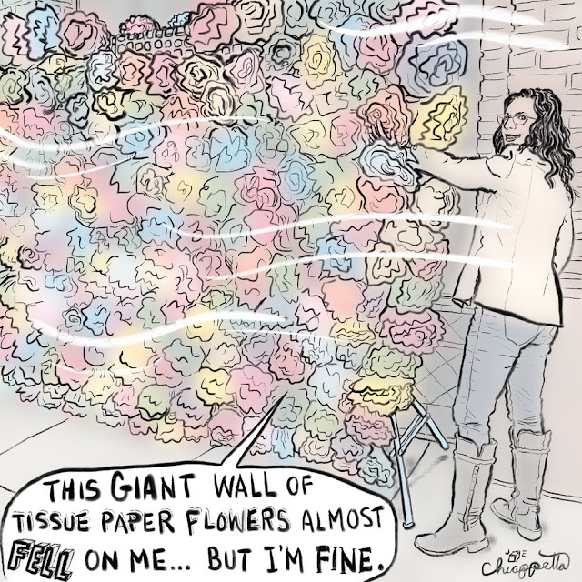 Beware the Wall of Tissue Paper Flowers by Joe Chiappetta is rare digital art on MakersPlace