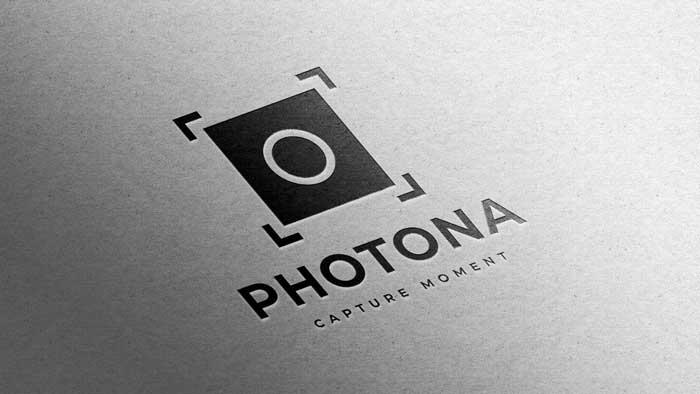 Photography Design White Paper Logo Mockup
