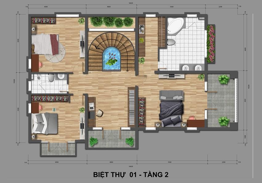 Biệt thự tầng 2