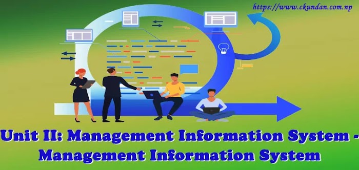 Unit II: Management Information System - Management Information System