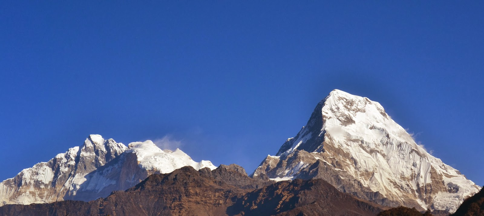 Annpurna mountain range Nepal