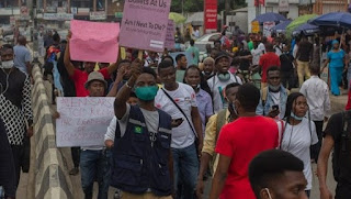 Just in : #EndSARS protesters dispersed in Lagos
